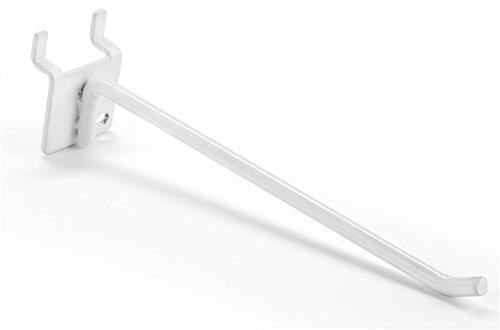 6 inch white peg board hooks features a powdered coated finish