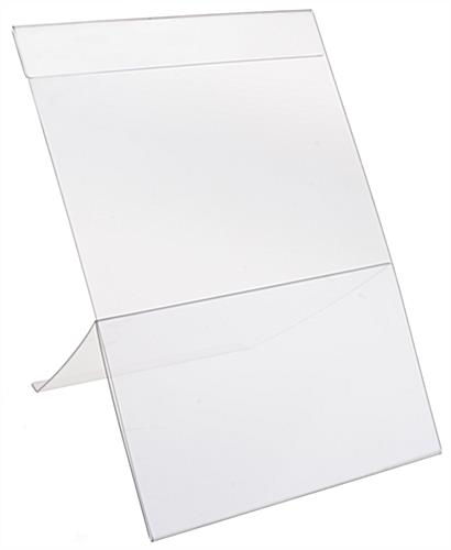 Plastic Easel Sign Holder Transparent