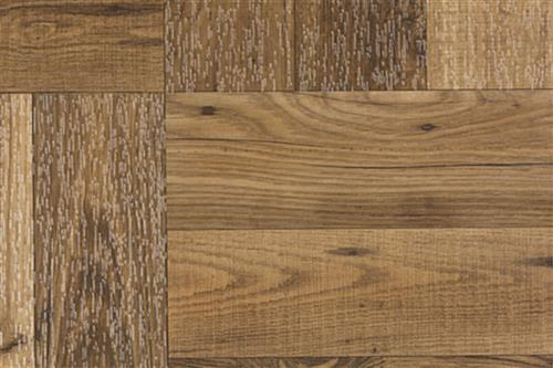 Dark Oak Interlocking Plastic Tiles with Faux Wood Grain