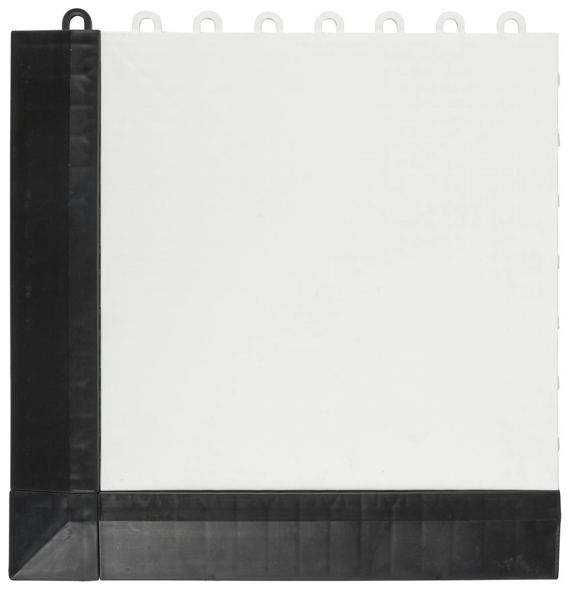 Interlocking Plastic Flooring White Tiles Amp Black Sloped