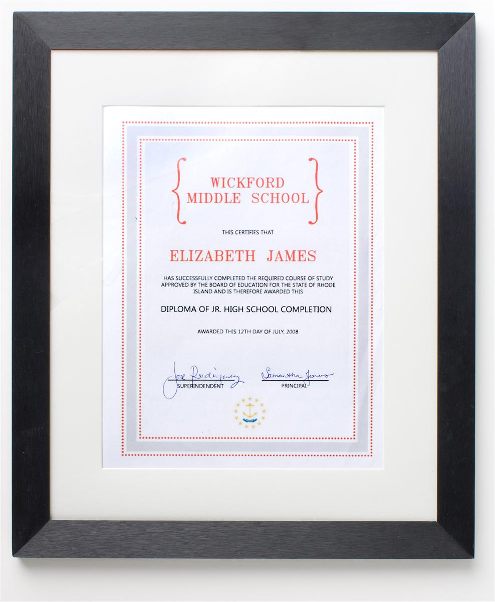 Displays2go 8.5 x 11 Matted Document Frame for Wall Mount...