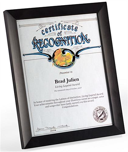 8.5 x 11 Certificate Frames for Documents & Prints | Black