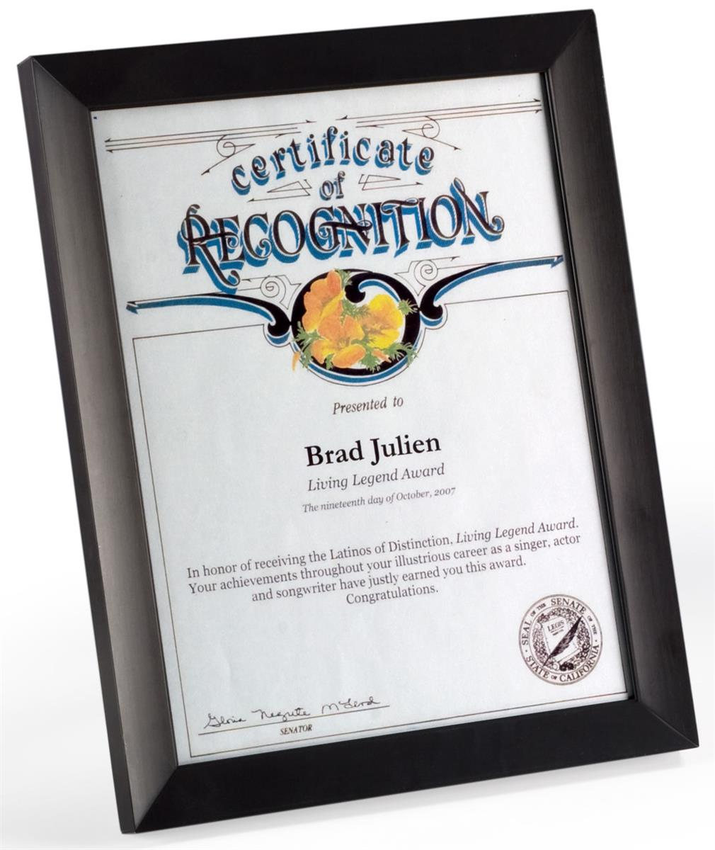 85 X 11 Certificate Frames For Documents Prints Black