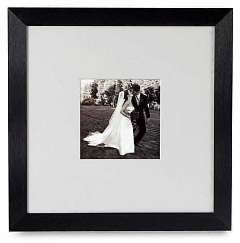 ... mat aluminum black picture frames warehouse metal picture frames black