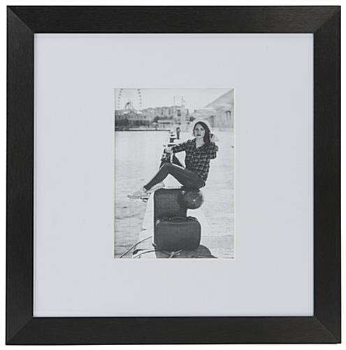 Oversized black 5x7 mat frame for modern style