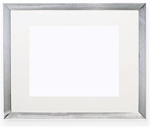 Silver Picture Frame - Brushed Aluminum Finish & Wide Profile