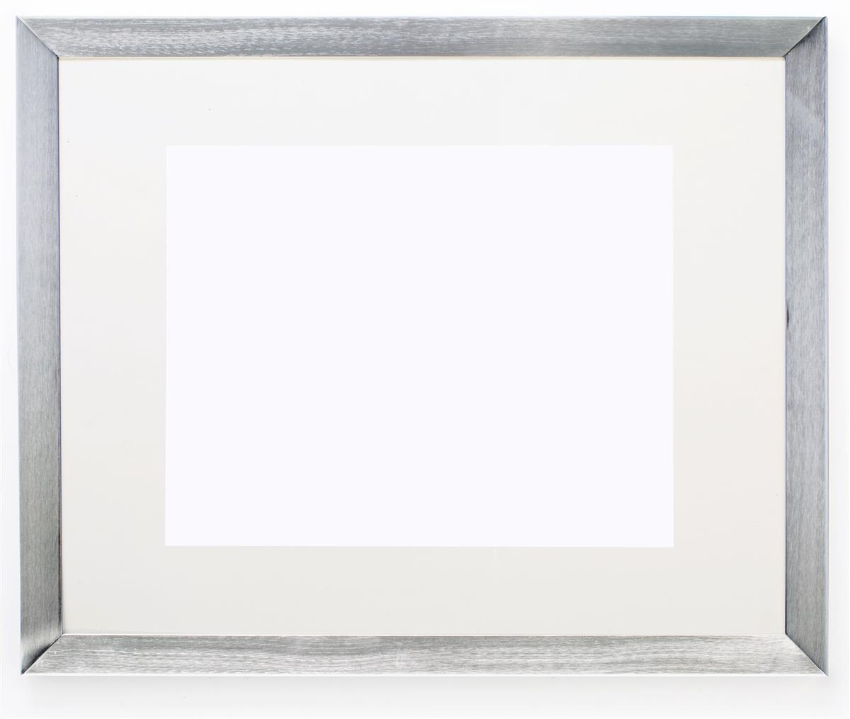 Silver Picture Frame Brushed Aluminum