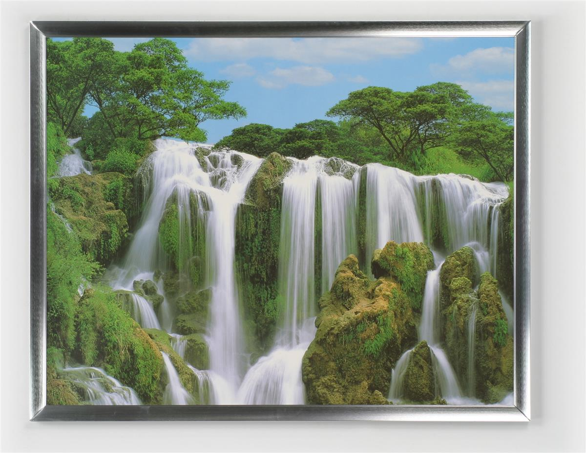 """22 By 28 Frame: 22 X 28 Picture Frame W/ Silver 1"""" Border"""