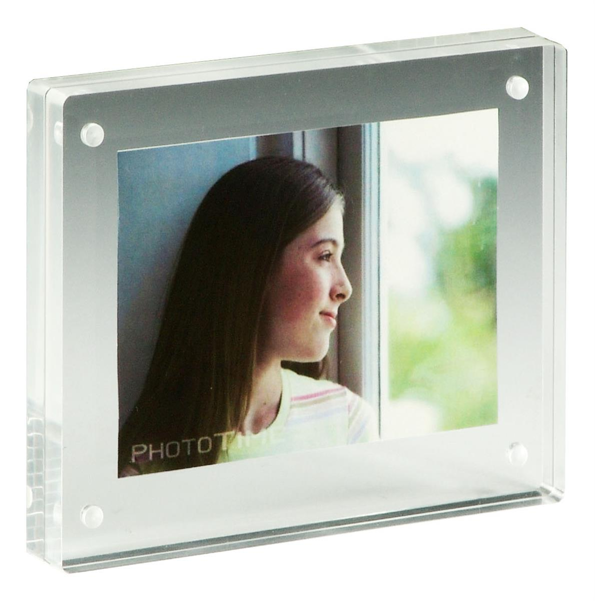 3 5 X 5 Magnetic Photo Holders W Clear Acrylic Block Design