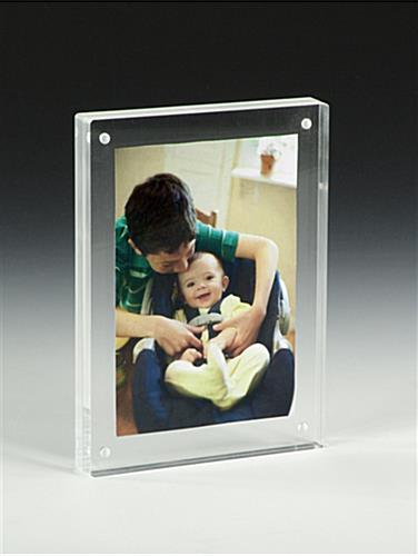 5 x 7 Magnetic Photo Frames - Tabletop Block Display