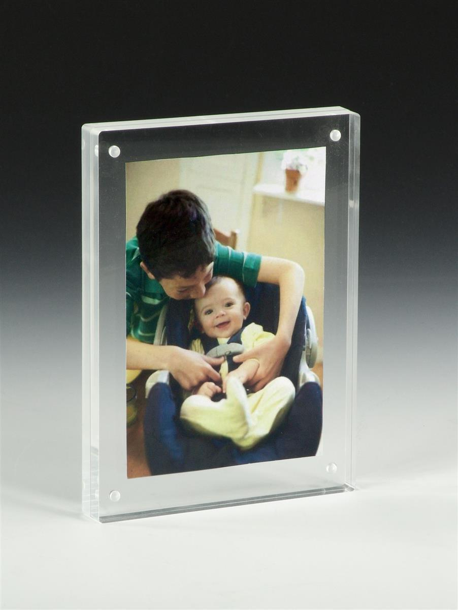 5 x 7 magnetic photo frames tabletop block display
