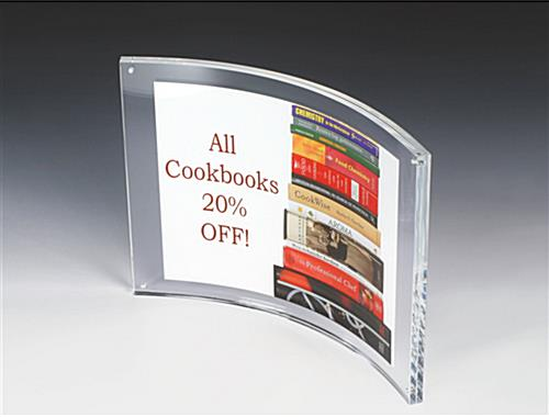 11 x 8.5 Magnetic Frames w/ Curved Acrylic Box Design