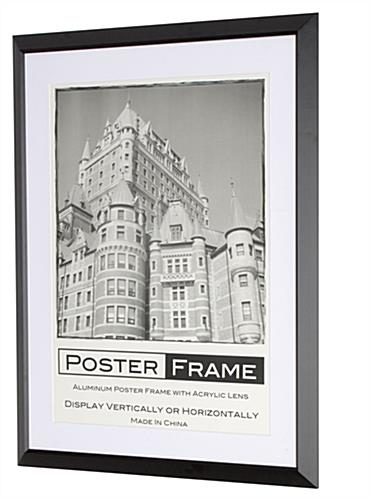 18x24 Frame w/ (2) Matboards Holds Posters, Ads & Signage