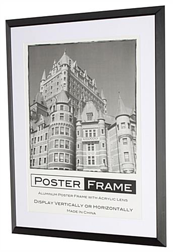 22x28 Frames Have A Brushed Black Aluminum Finish