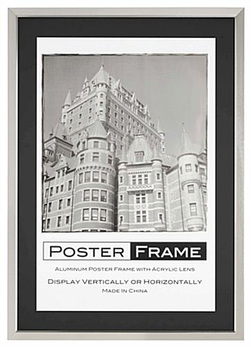 24x36 Matted Frame Includes (2) Mats for Different Display Setups