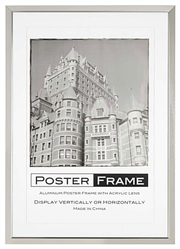 This 24x36 Matted Frame has a Brush Silver Finish to Compliment any ...