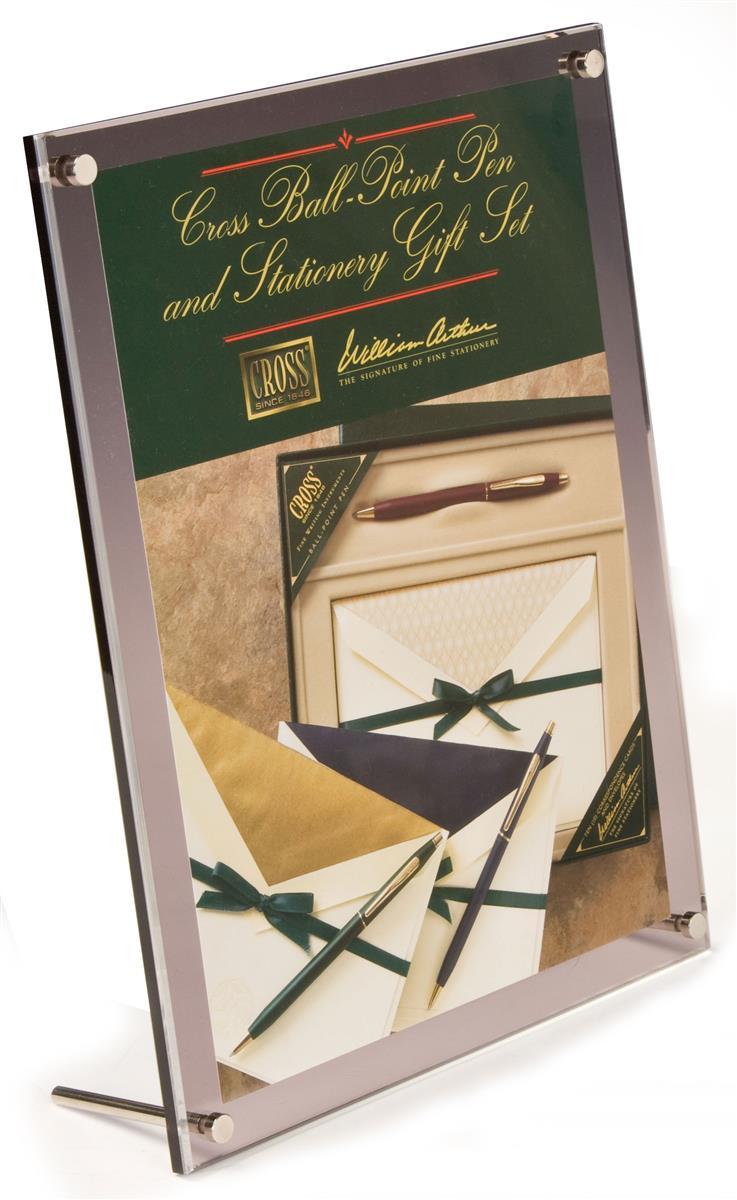 8 5 x 11 tabletop picture frame w standoff binding screws. Black Bedroom Furniture Sets. Home Design Ideas