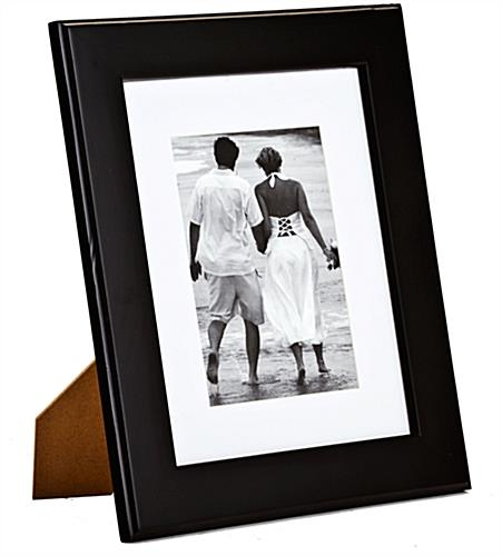 "Black Picture Frame with Mat for 8"" x 10"" Prints"