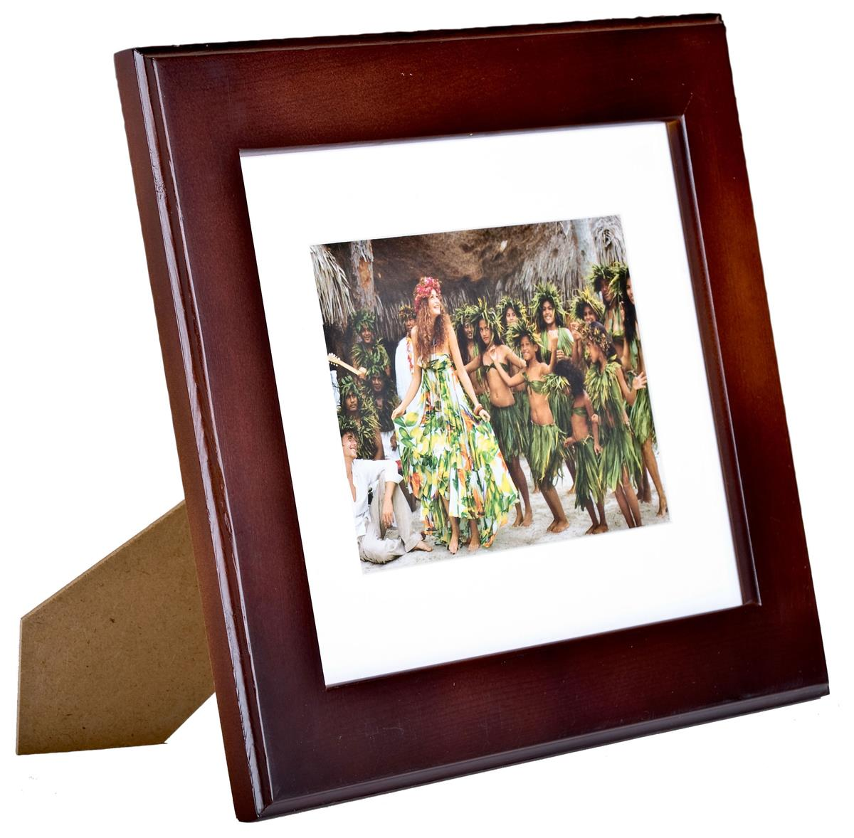 5 Quot X 7 Quot Wood Picture Frames Mahogany Finish