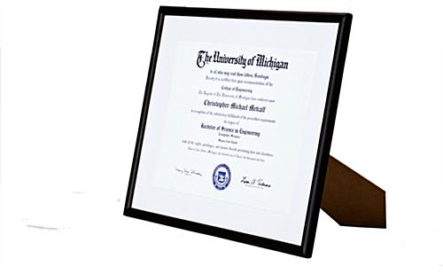 8.5 x 11 Black Certificate Frames Exhibit Achievements