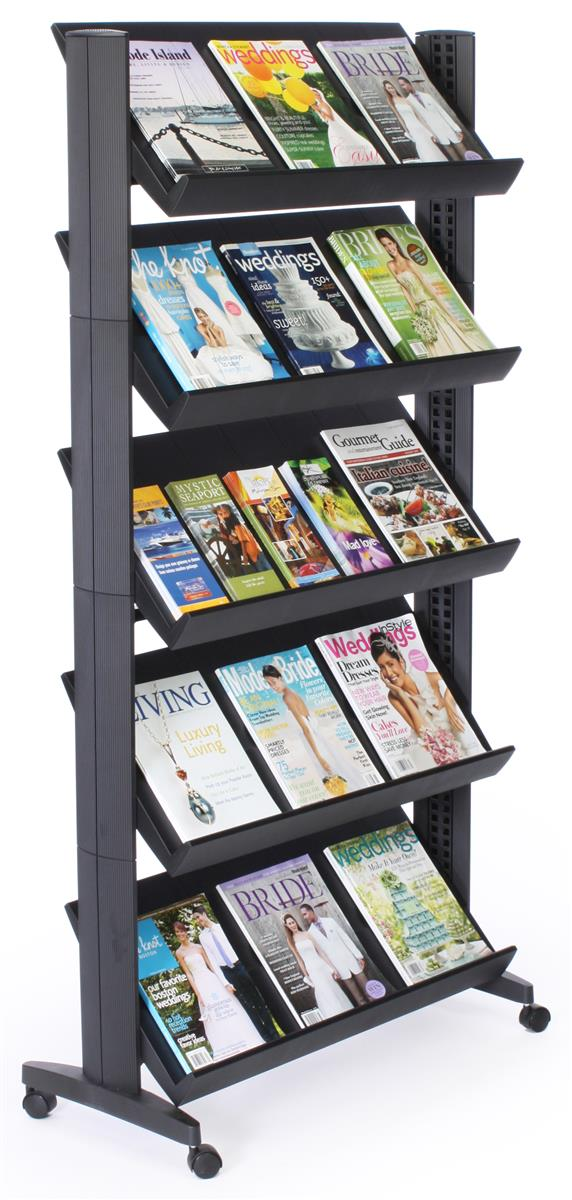 Literature Display Shelf 5 Height Adjustable Shelves