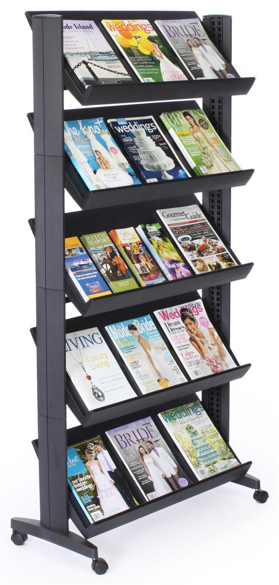 Literature Display Shelf 5 Height Adjustable Shelves