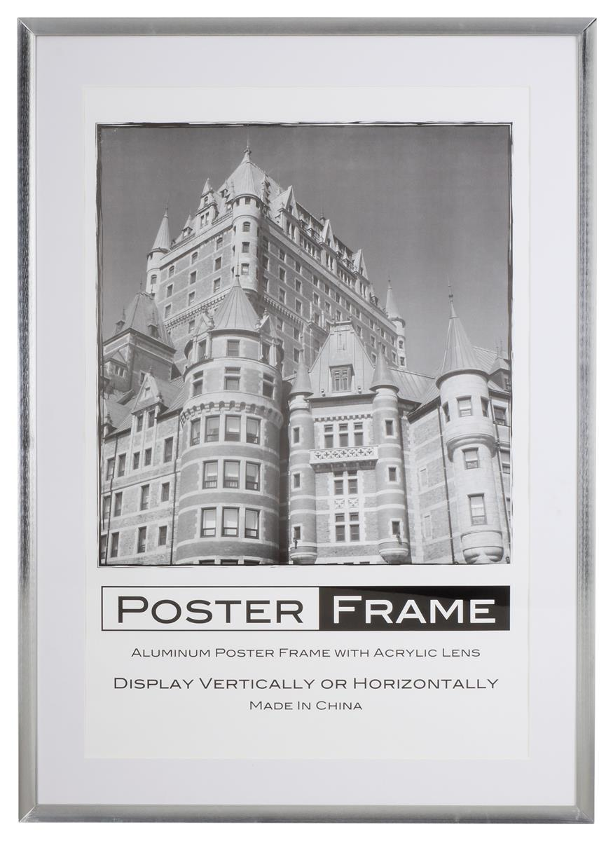 24x36 Frame Made from Durable Aluminum w/ Silver Finish