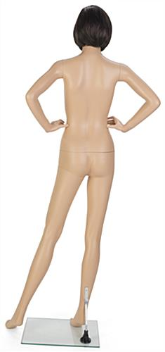 Female Mannequin Model with Short Brown Wig and Detachable Limbs