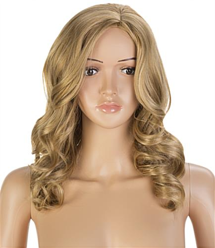 Female Mannequin with Long Blonde Wig and Curly Waves