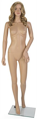 Female Mannequin with Long Blonde Wig for Retail Locations