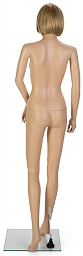 Female Full Body Mannequin with Short Blonde Wig for Department Stores