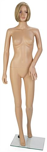 Female Full Body Mannequin with Short Blonde Wig with Thin Waist