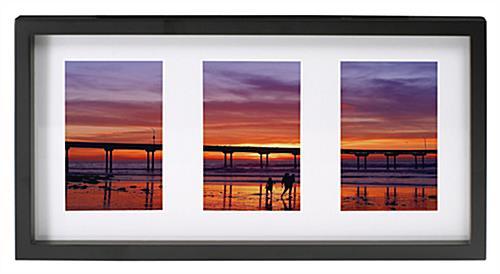 Space Saving Photo Frames - (3) 4 x 6 Openings