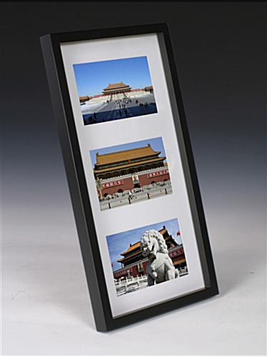 Space Saving Photo Frames - (3) 4 x 6 Openings