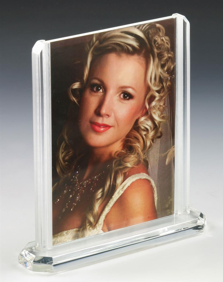 Double-Sided Photo Frame w/ Modern Design Fits 5\