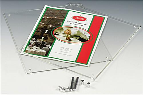 Clear Photo Holders For Tabletop Fit 8 X 10 Pictures Or Signs