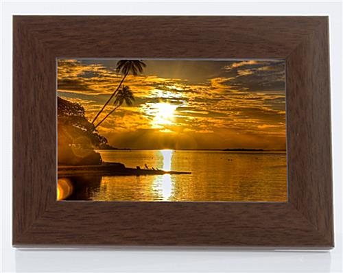 Brown Mahogany Faux Wood Picture Frame
