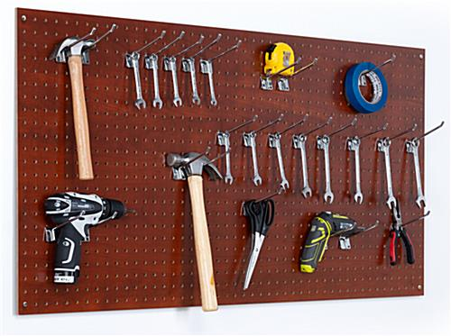 Peg display board for tools