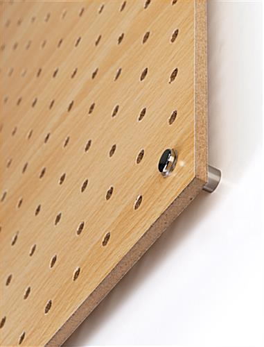 Pegboard wall with included hardware