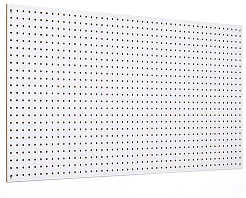 White pegboard panel for walls