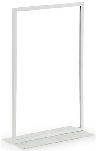 White Vertical 11 x 17 Sign Holder