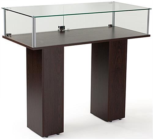 Commercial Display Case Glass Panels Wenge Veneer Finish