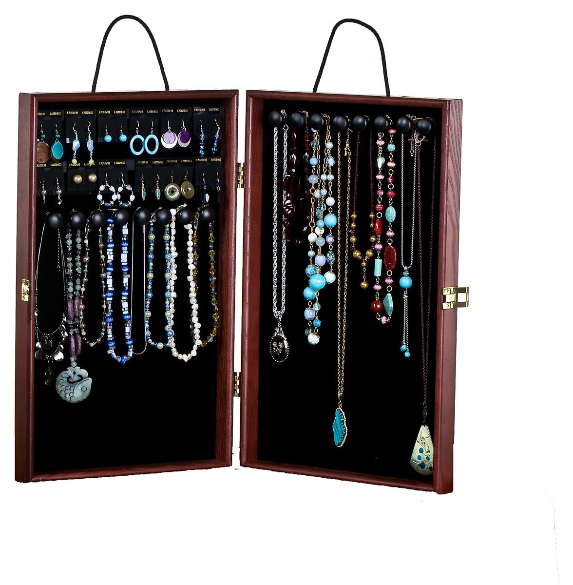Portable Exhibition Display Cases : Portable jewelry display case velvet interior