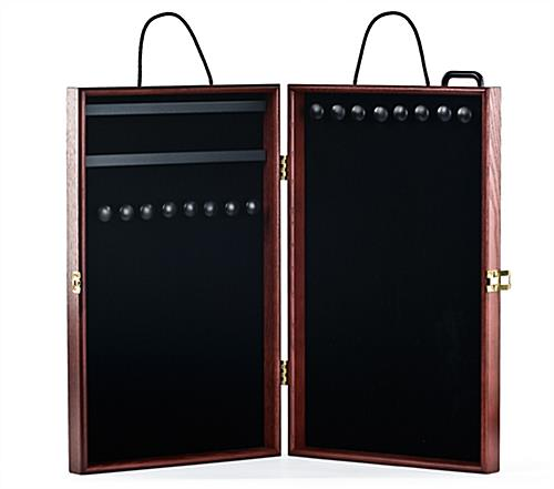 portable jewelry display case velvet interior. Black Bedroom Furniture Sets. Home Design Ideas