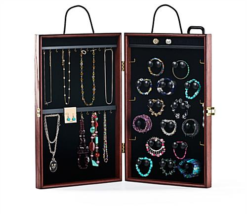 Jewelry Travel Display Case Ash Wood Amp Cherry Finish