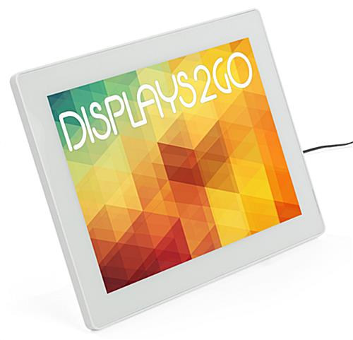 8.5 x 11 LED Frame with Snap-In Tabletop Easel