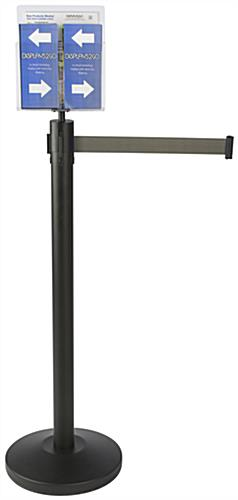 Brochure and Magazine Gray Stanchion & Post with Literature Holder