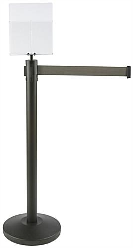 "54.5"" Tall Gray Stanchion & Post with Literature Holder"