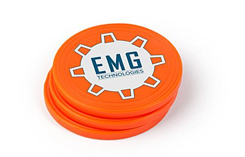 Large custom prize drop game pucks for trade show replacement
