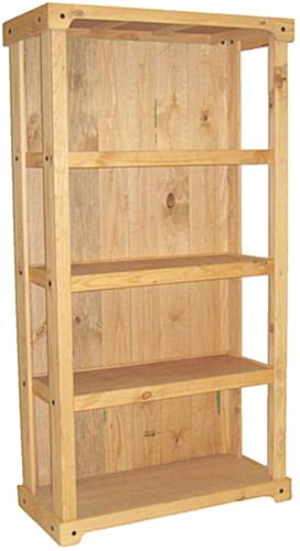 Wood Shelving Stand with Solid Pine Construction